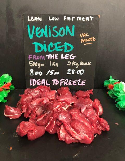 Venison Diced